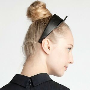 Jil Sander black Leather Headband